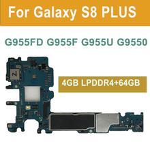 BINYEAE Original Entsperrt Mainboard Für Samsung Galaxy S8 Plus G955FD G955F G955U G9550 Motherboard 64GB Logic board Knox 0