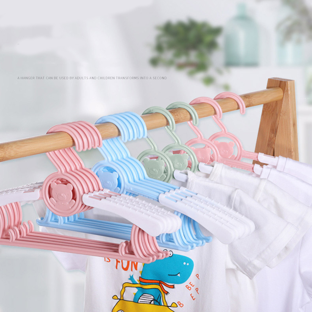 LaVieFacile регулируемые детские вешалки Младенцы, малыши, дети NurseryHangers, Non-Slip и выдвижная Прачечная для вешалки