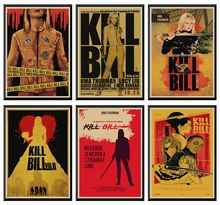 Kill Bill Vol.1 classic Quentin movie film kraft paper Cafe bar poster Retro Poster decorative painting 42X30cm localism bill vol 12