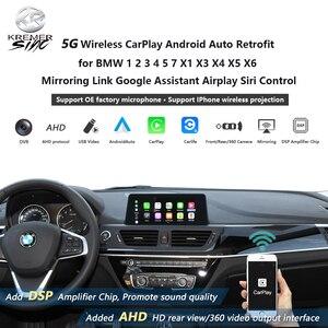 Беспроводная CarPlay Android Автоматическая модернизация для BMW 1 2 3 4 5 7 X1 X3 X4 X5 X6 зеркальная ссылка Google Assistant Airplay Siri Control