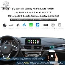 Modification automatique sans fil de CarPlay Android pour BMW 1 2 3 4 5 7 X1 X3 X4 X5 X6 lien de mise en miroir Google Assistant Airplay contrôle Siri