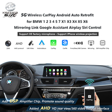 Wireless CarPlay Android auto Retrofit for BMW 1 2 3 4 5 7 X1 X3 X4 X5 X6 Mirroring Link Google Assistant Airplay Siri Control
