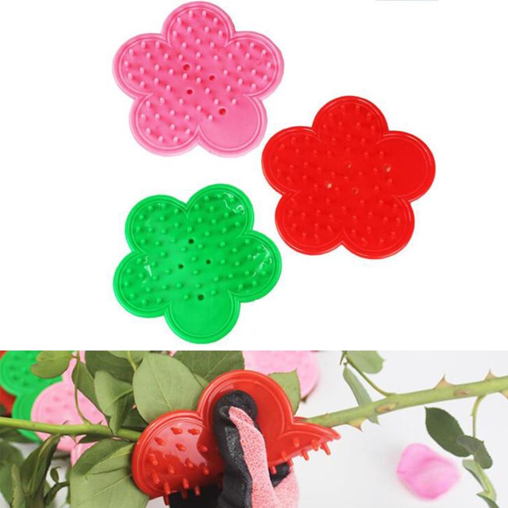 1PC Pink Plastic DIY Cut Tool Florist Flower Rose Thorn Stem Leaf Stripper Rose Removing Burr Eco-friendly Garden Tool Green Red