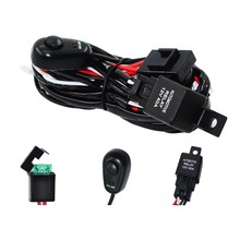 Luce del Lavoro del Led Bar Cable Car Auto Off Road di Guida Della Luce di Nebbia Cablaggio Harness Kit Con On/Off interruttore 40A Dc12V Un Trascinamento Due(China)