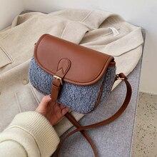 Clutch Designer Handbags Waist-Bag Shoulder-Bag Crossbody-Package Small Fluffy Plush
