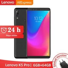Küresel ROM Lenovo K5 Pro 6 GB 64 GB Snapdragon 636 Octa Çekirdek Smartphone Dört Kameralar 5.99 inç 18:9 4G LTE Telefonları 4050 mAh