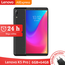 Глобальный Встроенная память lenovo K5 Pro 6 Гб 64 Гб Snapdragon 636 Octa, четыре ядра, смартфон, четыре камеры 5,99 дюймов 18:9 4 аппарат не привязан к оператору сотовой связи телефоны 4050 мАч
