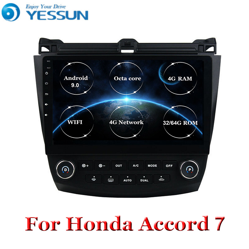 Auto <font><b>Radio</b></font> Multimedia Android 9.0 für <font><b>Honda</b></font> <font><b>Accord</b></font> 7 <font><b>2003</b></font> 2004 2005 2006 <font><b>2007</b></font> auto dvd stereo audio-player gps Navigation RDS image