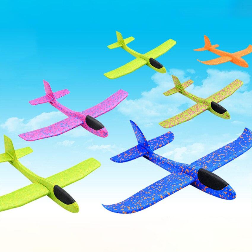 Avion en mousse à lancer de la main, jouet d'extérieur, jouet pour enfants, modèle Puzzle, vol gratuit, 48CM 6
