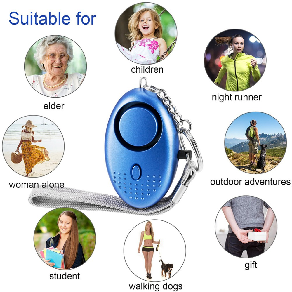 130 db Safesound Personal Security Alarm Keychain with LED Lights Self Defense Electronic Device for Women,Kids 6