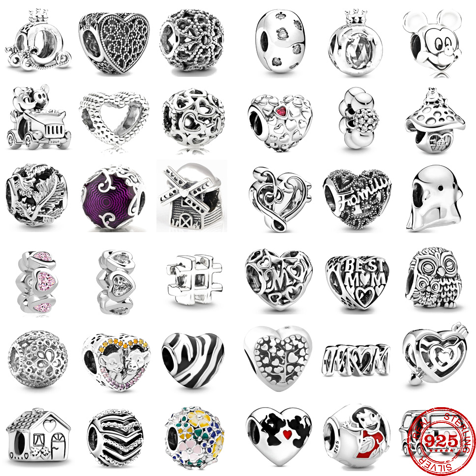 2020 New Heart Labyrinth & Arrow Charm Bead fit Original Pandora charms silver 925 Bracelet trinket jewelry for women DIY making(China)