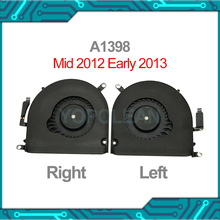 """オリジナルa1398 左右cpuクーラー冷却ファンのmacbook proの網膜 15 """"A1398 mid 2012 早期 2013 年"""