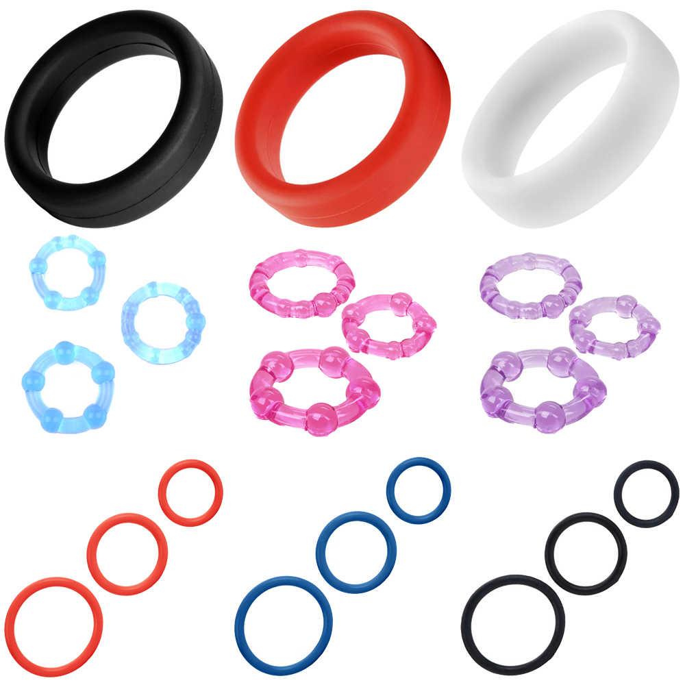 Ring für Penis Sex Spielzeug Weichen Männlichen Dildo Scrotal Gebunden Penis Ringe Hodensack Rot Stretch Cock Ringe Penis Sleeve Kondome für Männer