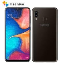 Samsung Galaxy A20 A205U A205F Ultra odnowiony-oryginalny odblokowany telefon komórkowy z androidem 6.4