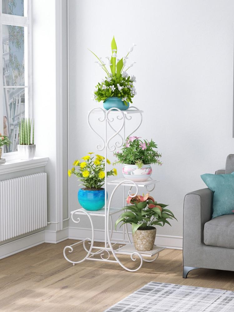 Rack Shelf Indoor Botany Frame A Living Room Balcony Bedroom Flowerpot Planting Frame Landing Type Many Green Luo Shelves