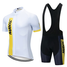 New Mavic 2021 Pro Team Cycling Clothing /Road Bike Wear Racing Clothes Quick Dry Men's Cycling Jersey Set Ropa Ciclismo Maillot