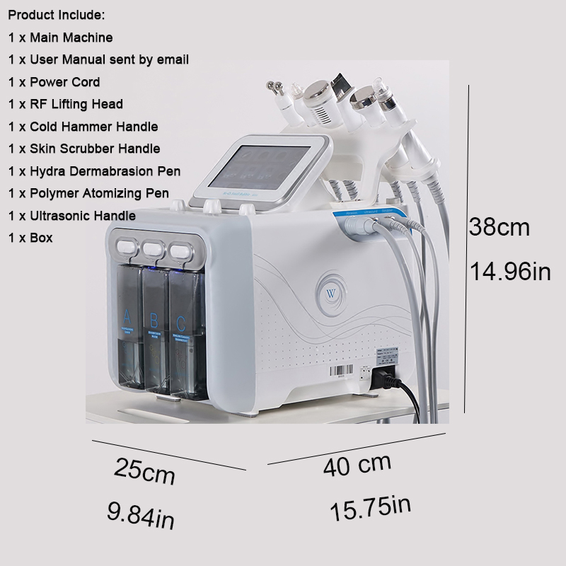 6 In 1 Water Dermabrasion Machine Deep Cleansing Machine Water Jet Hydro Facial Clean Dead Skin Removal For Salon Use