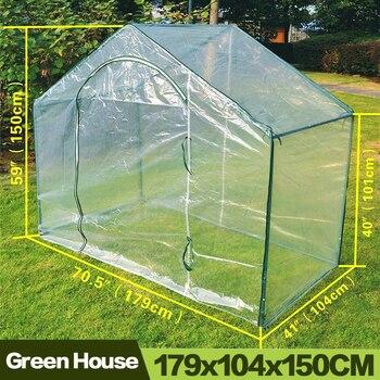 AULAYSED 5,9 'X 3,5' X 5 'nueva casa verde cálida planta De...