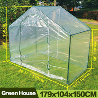 AULAYSED 5.9 'X 3.5' X 5 'חדש חם ירוק בית צמח פרח גינון חממה PE Invernadero Serre דה Jardin Agricultura-בחממות חקלאיות מתוך בית וגן באתר