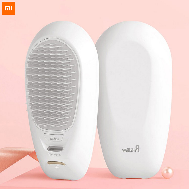 Xiaomi Youpin XW Negative Ion Hair Care Comb Lock Water Nutrition Hair Smooth Non-static Fast Charging High Duration Portable