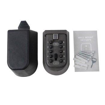 Wall Hanging Key Code Lock Thickening Iron Key Box Outdoor Wall Mount Spare Key Safe Box Lock Holder недорого