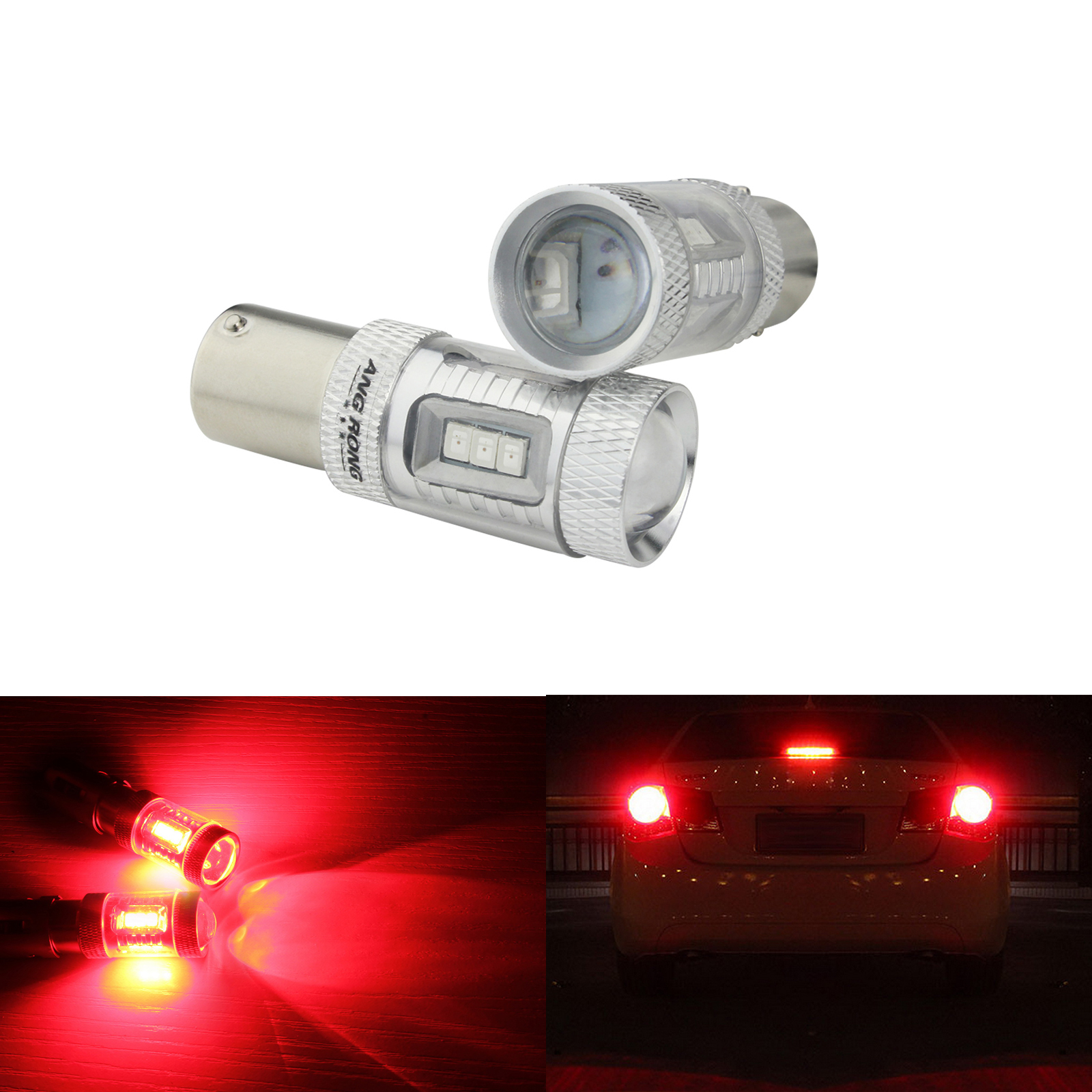 BULB 12V 10W BA15S ORANGE STOP TAIL BRAKE LIGHT LAMP REAR INDICATOR CAR AUTO EXTERIOR TURN SIGNAL MOTORCYCLE