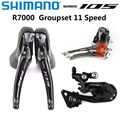 SHIMANO 105 R7000 Groupset Kit 2x11 Speed R7000 Derailleurs Road Bicycle ST+FD+RD Dual-Control Lever Front Rear Derailleur SS GS
