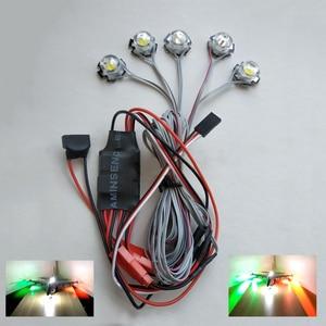Image 4 - 1 סט RC מטוסי 5W מהבהב בהיר אור ניווט LED מנורות פיצוץ מהבהב 2s 3s 4S 5S 6s בקר חלקים עבור FPV
