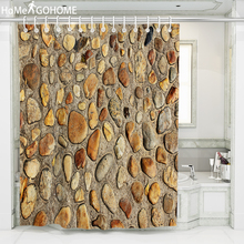 Vintage Shower Curtains for Bathroom Polyester Stone Wall Art Decoration Bath Shower Curtain Printed Curtain 3D Shower Curtains valentine s day heart angel printed shower curtain