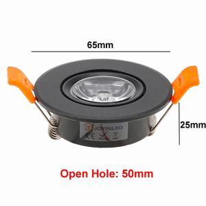 Image 2 - 10pcs Round Adjustable LED Dimmable Downlight Super Bright Recessed 3W LED Spot light LED decoration Ceiling Lamp AC110V 220V