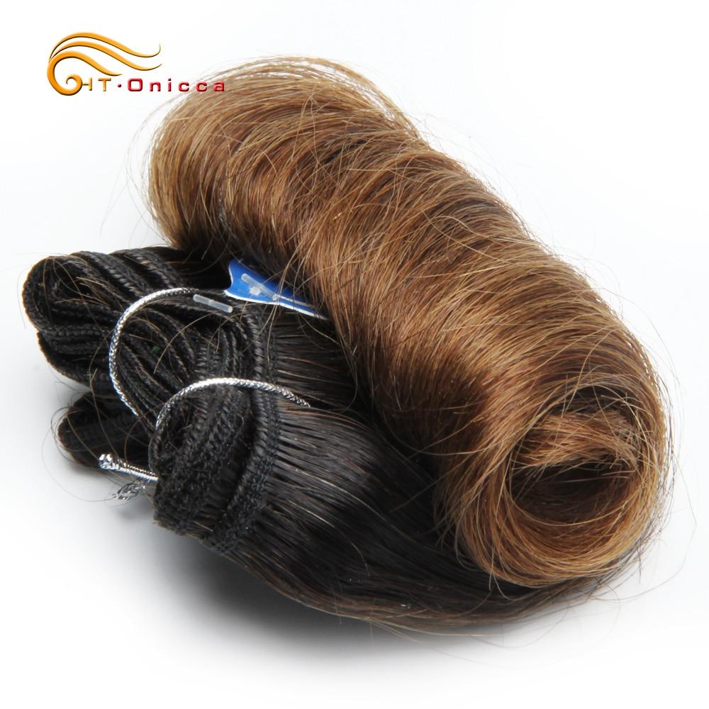 Curly Hair 4 Bundles Double Drawn  5 5 6 7 Inch  Hair  Bundles 1B 27 30 99J Color  2