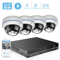 BESDER 8CH 4MP POE NVR CCTV Security System 4PCS 4MP 2MP Audio Record IP Camera Vandal proof IR P2P Video Surveillance Kit Audio