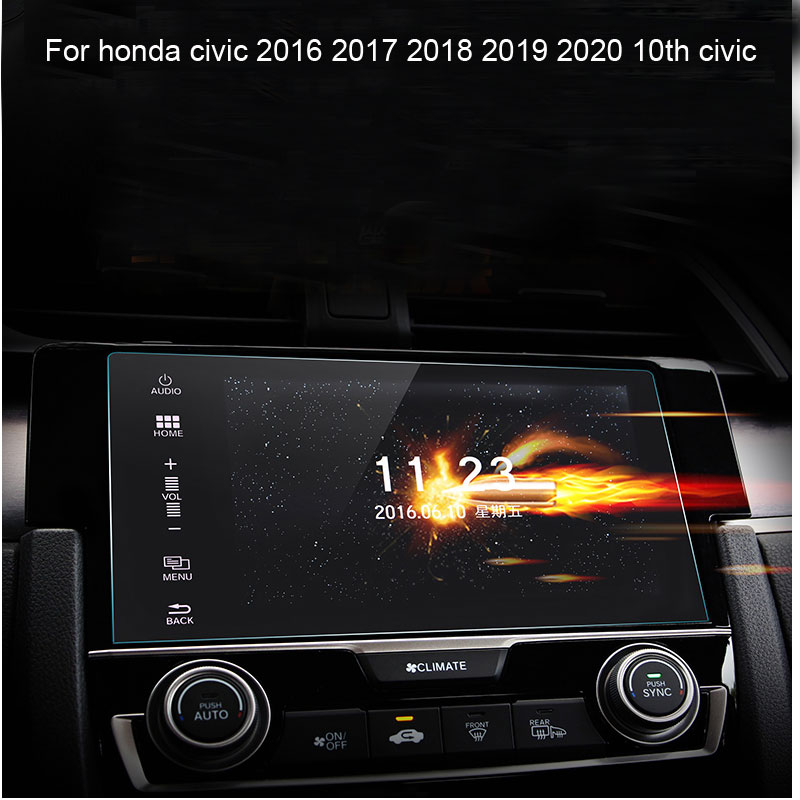 Car Dashboard Navigation Screen Protective Toughened Tempered Film For Honda Civic 2016 2017 2018 2019 202010th Civic