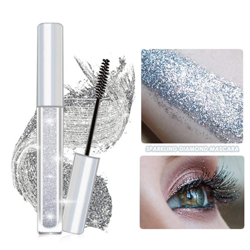 Sparkling Diamond Shiny Charm Mascara Volume Waterproof Lash Extension Makeup Silk Graft Growth Fluid Professional Rimel for Eye