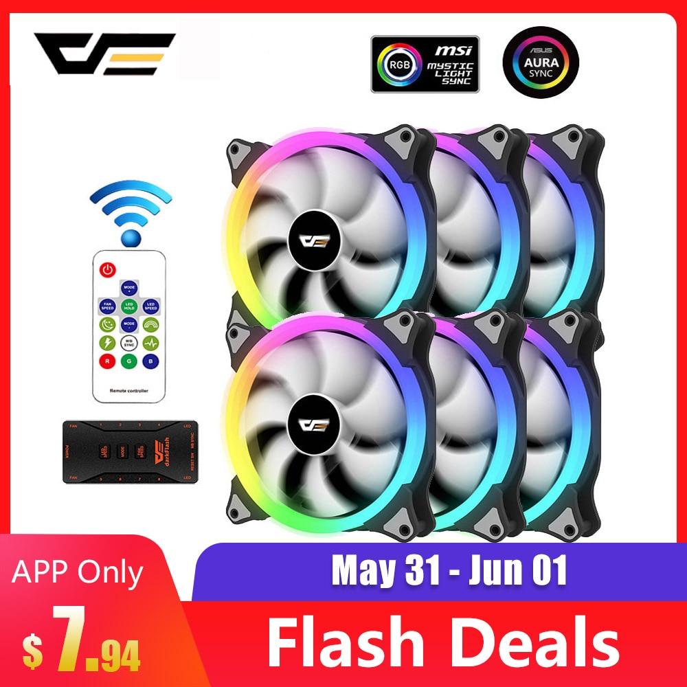 Darkflash RGB Fan Remote-Computer-Case Rgb Case AURA Quiet 5v/3pin-Speed CS140 Adjust
