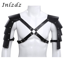 Men Lingerie Harness Leather Adjustable Body Chest Bondage Costume with Shoulder Armors Buckles Sexy Male