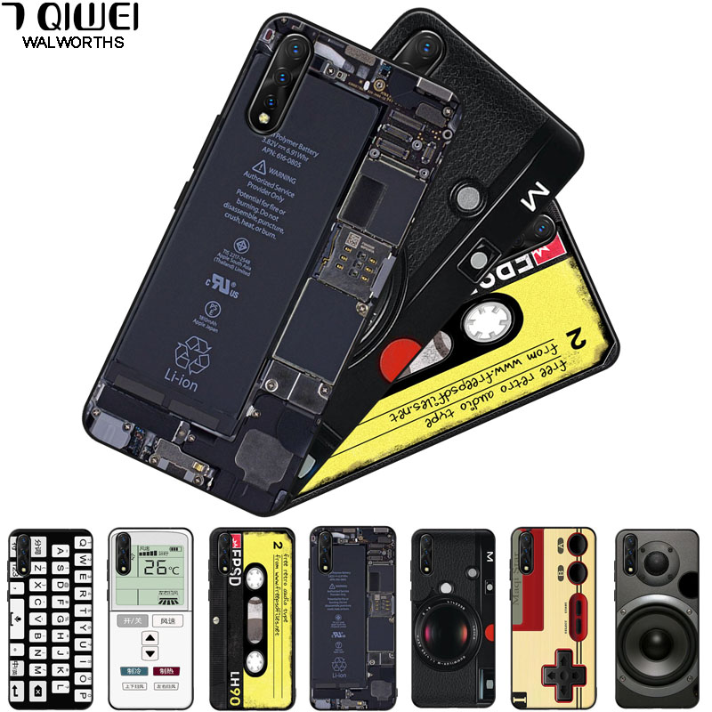 For VIVO Z5X Case Silicone Black Soft Phone Cases For VIVO Y95 Y91 Y91C Y91i Z1 Pro V15 Pro V11i Y81 V17 Neo S1 Cover TPU Coque(China)