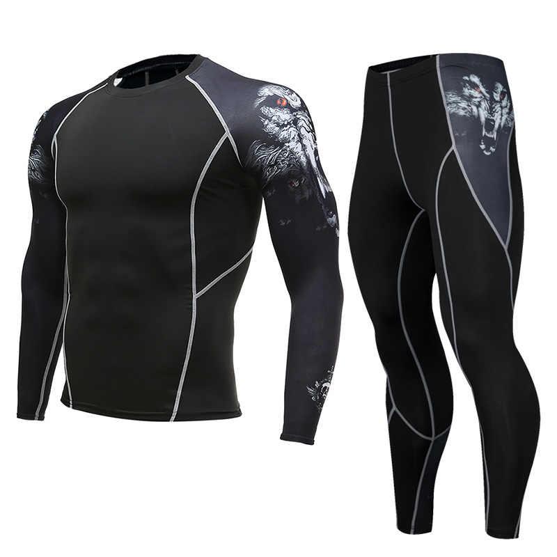 Мужские компрессионные колготки с длинным рукавом, спортивная одежда для велоспорта, дышащая суперэластичная одежда для бега, футболки для фитнеса, быстросохнущие