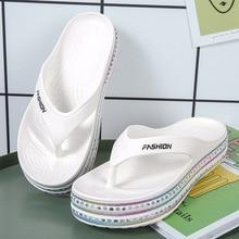 Summer Flip Flops Platform Woman Fashion Beach Shoes Women's Sandals Flats Comfortable Sandals Non-slip Slipper Female Flip-flop