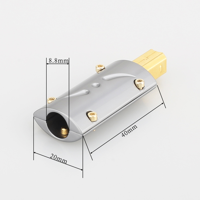 High quality Viborg Gold plated USB B Part