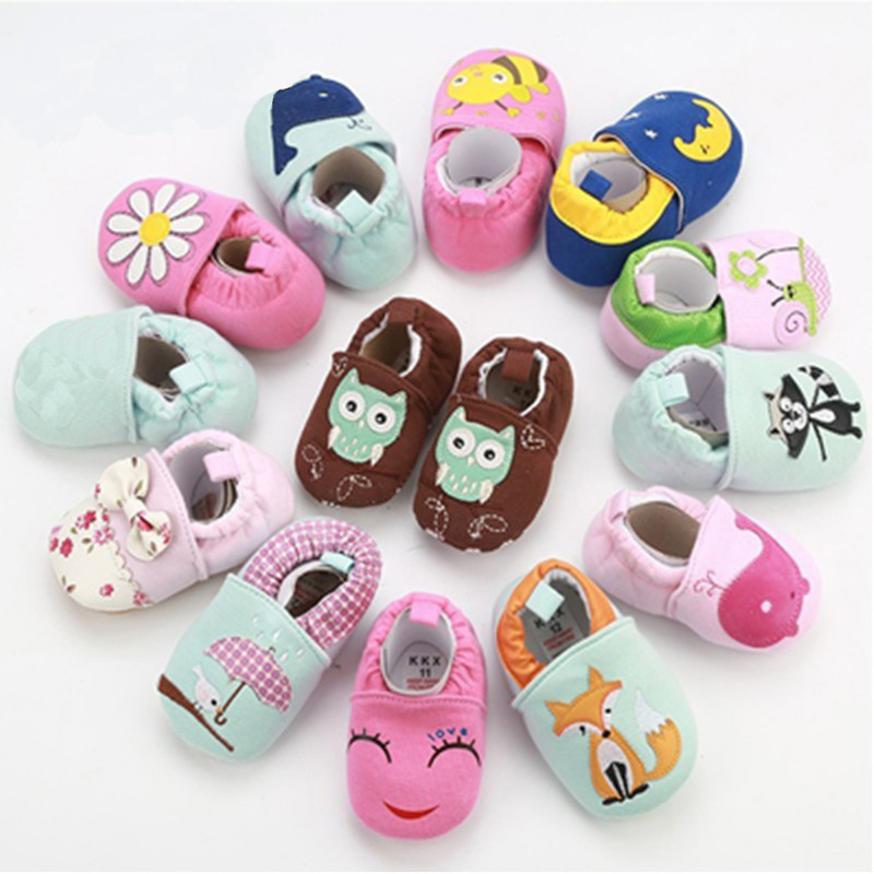 2019 Autumn Baby Girls Boys Breathable Anti-Slip Casual Cartoon Animal Sneakers Toddler Soft Soled Walking Shoes
