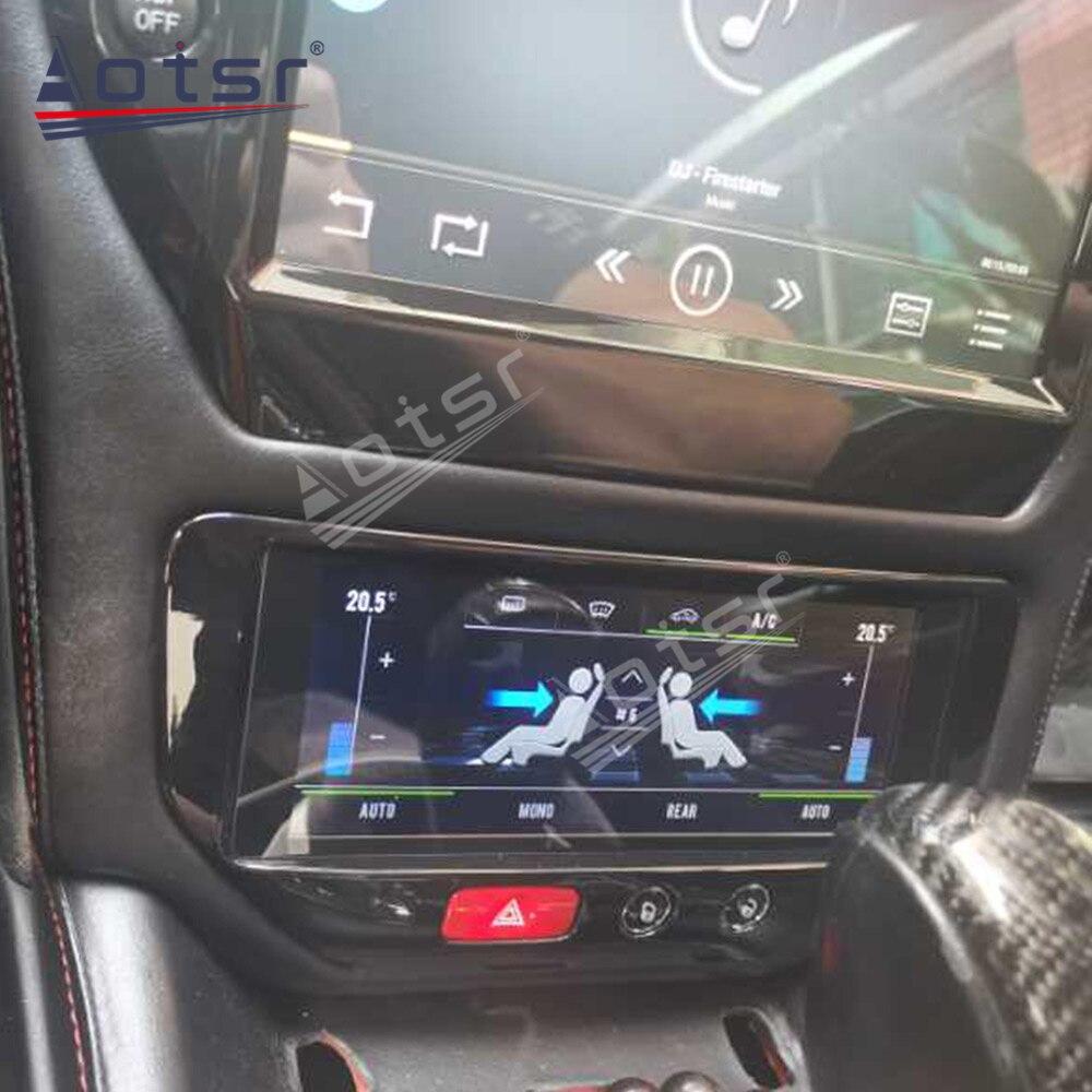 Carte A/C pour Maserati GT/GC GranTurismo noir ou Fiber de carbone 2007 - 2017 lecteur multimédia voiture GPS Navigation stéréo unité principale