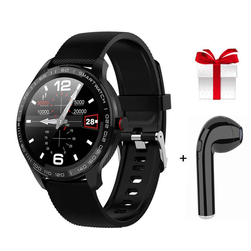 สมาร์ทนาฬิกาMan L9 Smartwatchสมาร์ทนาฬิกาสำหรับสตรีECG Heart RateความดันโลหิตFull Touch Screen Fitness Tracker PK l5 L7