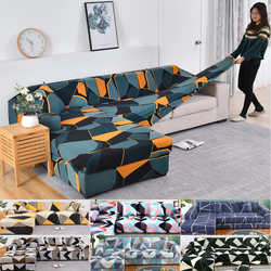 L shape sofa covers for living room corner sofa cover stretch slipcover separated design (L shape must buy 2 pieces)