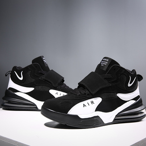 Image 2 - Men Women Cushioning Basketball Shoes Max Size 45 Basketball Sneakers Anti skid High top Shoes Male Suede Basketball Boots 2019