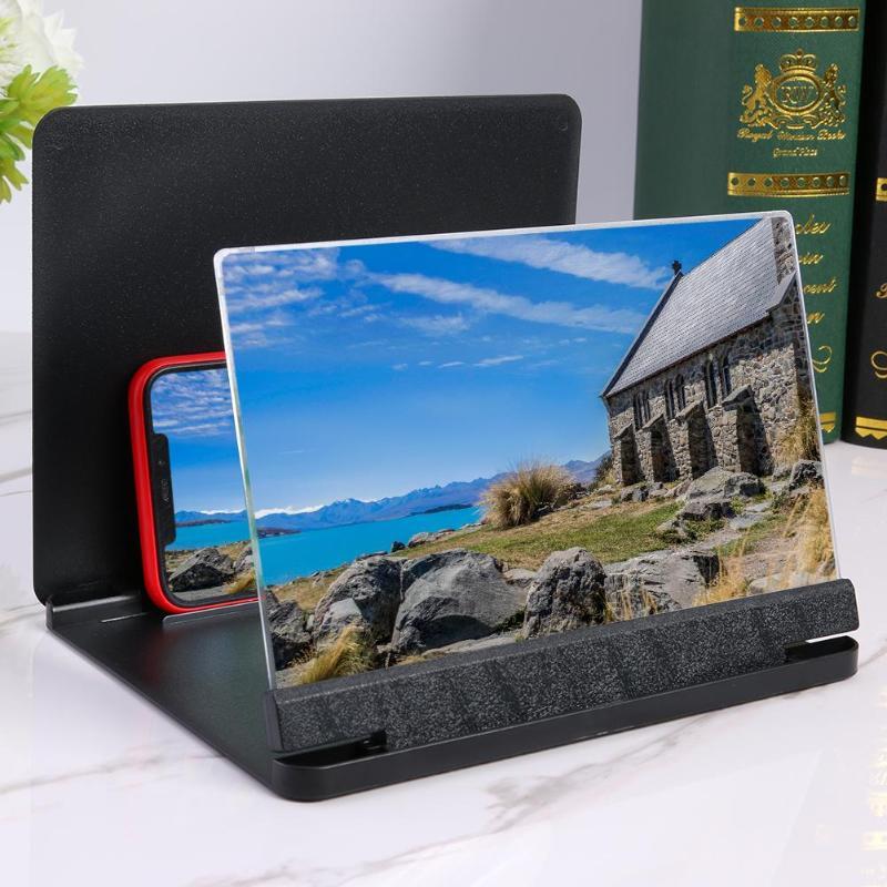HobbyLane Mobile Phone 3D Screen Video Magnifier Bracket Folding Enlarged Desktop Smartphone Movie HD Amplifying Projector D25