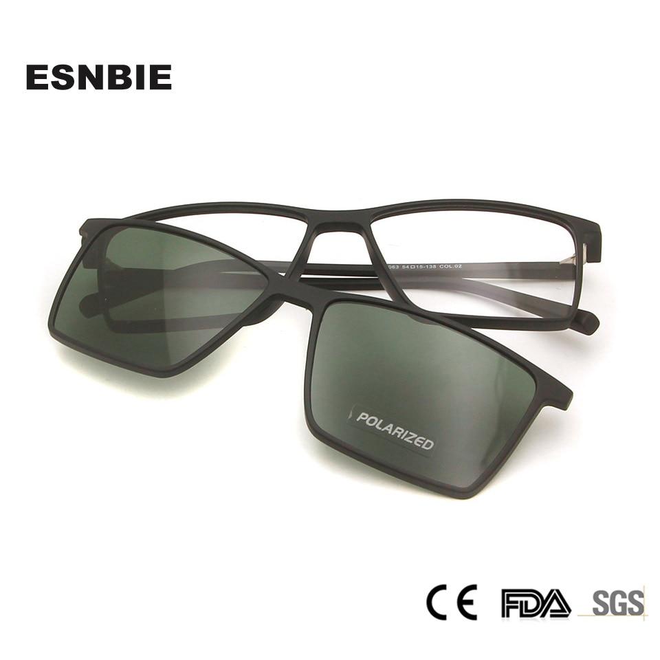 Ultra Light Women' Eye Glasses With Magnetic Clip On Sunglasses TR90 Polarized Square Sun Glasses For Men UV400 oculos