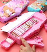 Креативный многофункциональный пенал для девочек, многослойный, милый, kawaii, школьный пенал, пенал, escolar papelaria chancery etui