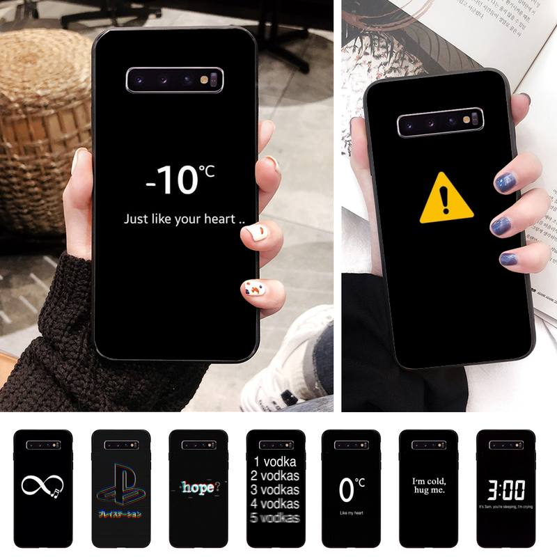Aesthetic Wallpapers Soft Phone Case Cover For Samsung S10 Lite S9 Plus A10 A20 A30 A40 A50 A50s A3 A7 A310 A72 A750 Case Half Wrapped Cases Aliexpress