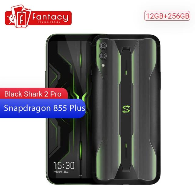 """מקורי Xiaomi שחור כריש 2 פרו 12GB 256GB משחקי טלפון Snapdragon 855 בתוספת אוקטה Core 6.39 """"AMOLED FHD + תצוגת טלפון נייד"""